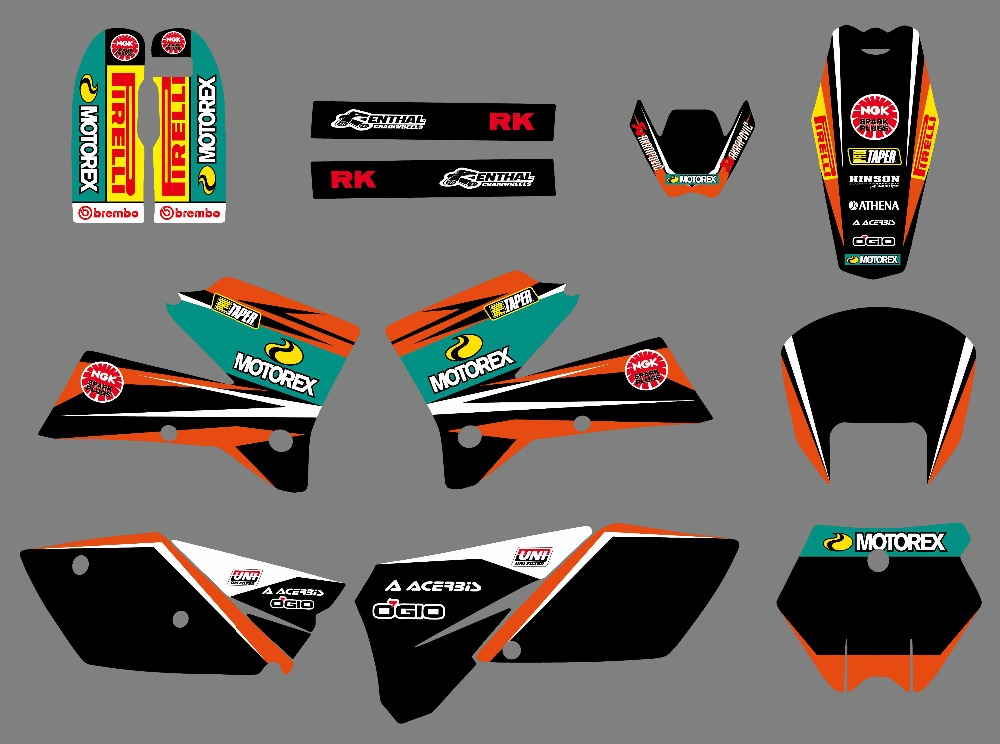 NICECNC Matching Graphic Decal Sticker For KTM 125 200 250 300 400 450 525 SX SXF EXC EXCR XC XCF XCW XCFW MXC 2005 2006 2007 все цены
