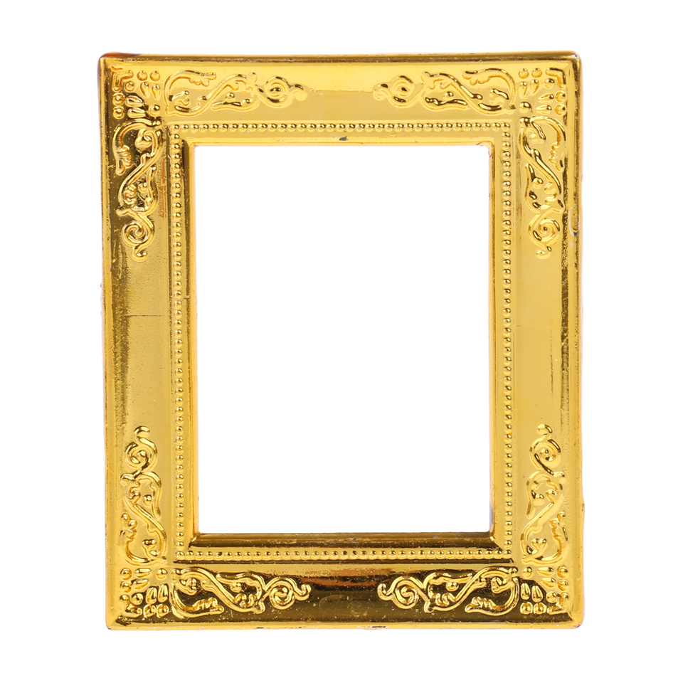 Gold Rahmen Miniature Gold Rahmen Photo Frame 1:12 Dollhouse Wall Decorative Ornaments|doll Houses| - Aliexpress