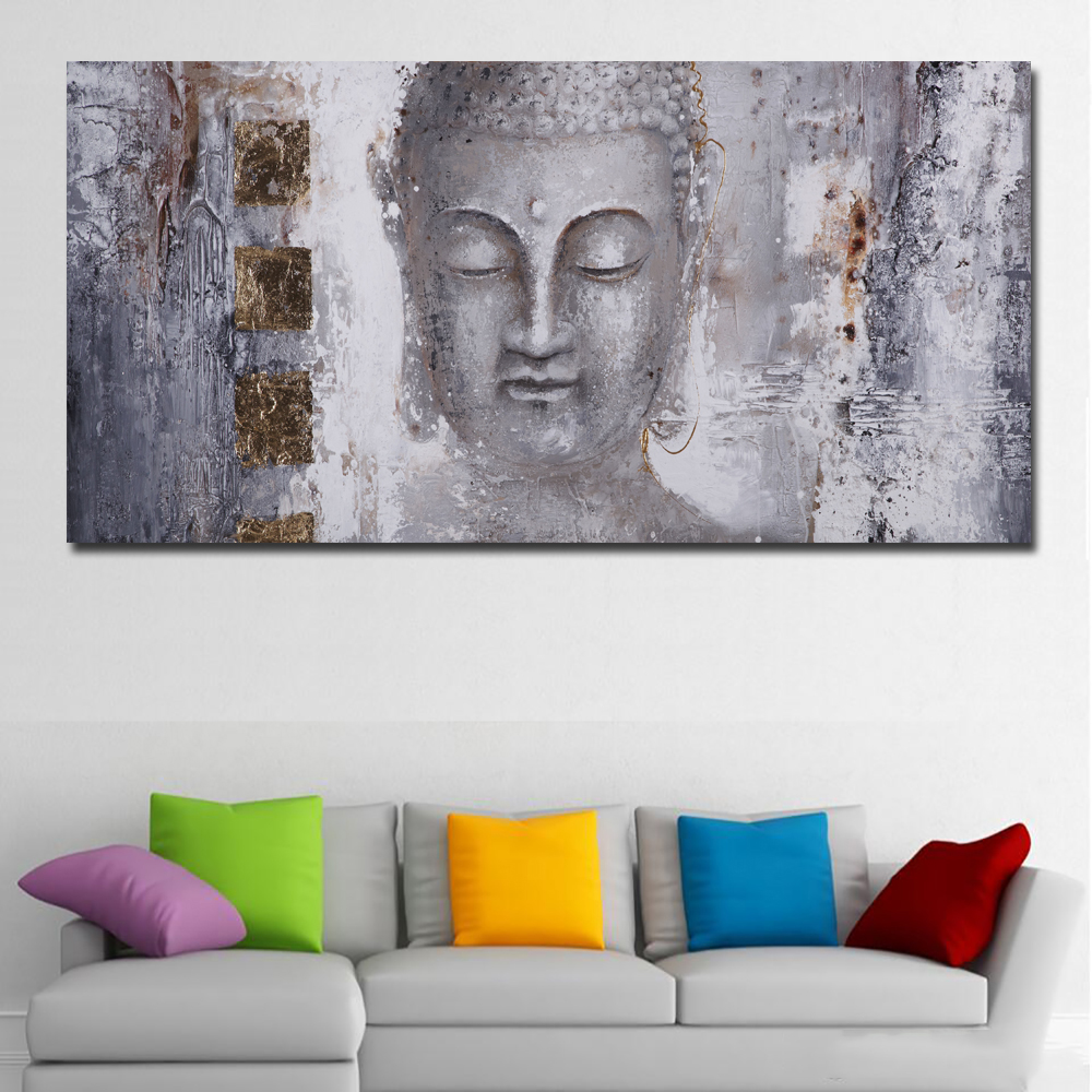 Large Size Poster Canvas Art Abstract Art Buddha Painting