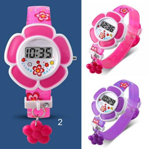 Lovely Kids Watches Flower Cute Children Watches Cartoon Silicone Digital Wristwatch For Kids Boys Girls Wrist Watches Relogio Islamabad