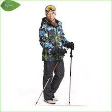 MS01K men ski suit pants + jackets/set winter sports snowboard clothing men's skiing sets waterproof windproof