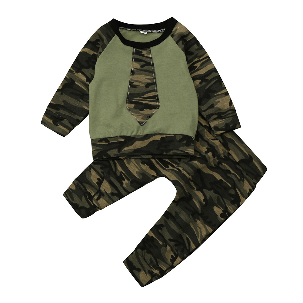 343f910fd325d baby clothes tracksuit for girls Boys Newborn Camouflage Tops Shirt Pants  clothes for girls overalls children's winter costume