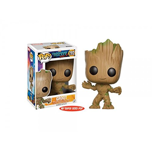Exclusive <font><b>Funko</b></font> Pop Official Life Size 10'' <font><b>Guardians</b></font> <font><b>Of</b></font> <font><b>The</b></font> <font><b>Galaxy</b></font> Vol.2 - Groot Collectible Vinyl <font><b>Action</b></font> <font><b>Figure</b></font> Model Toy