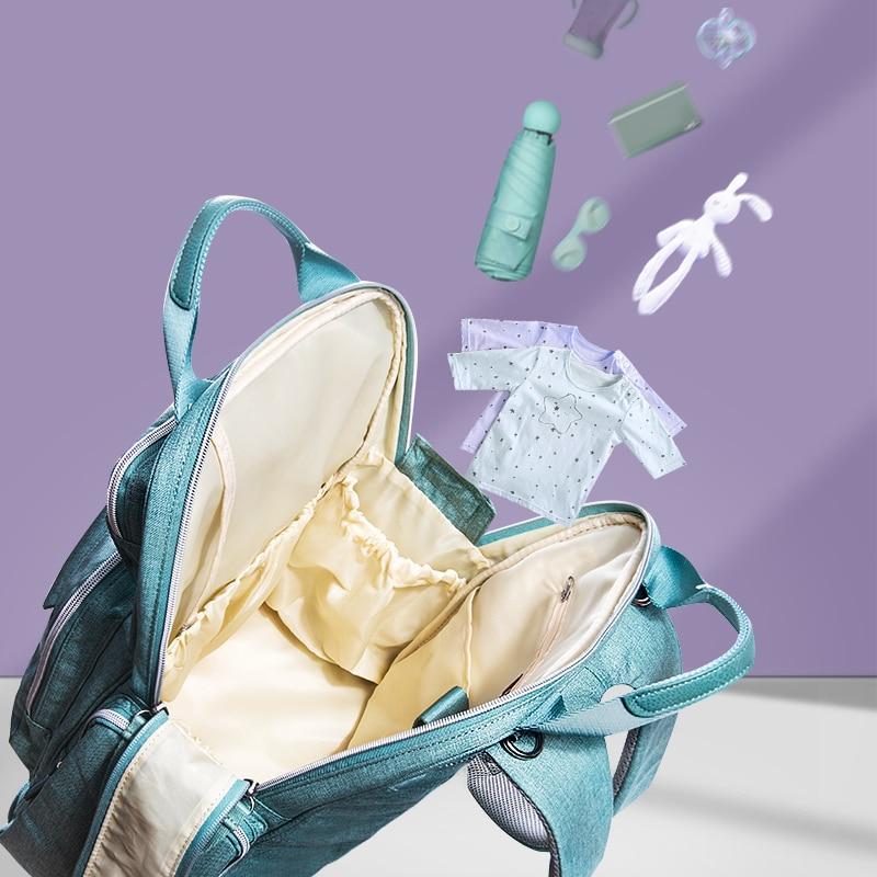 SUNVENO Sac À Langer Sac À Dos De Maternité Bébé Sac Maman Sac À Dos Élégant Poussette Bébé Sacs à Couches Pour Maman - 6