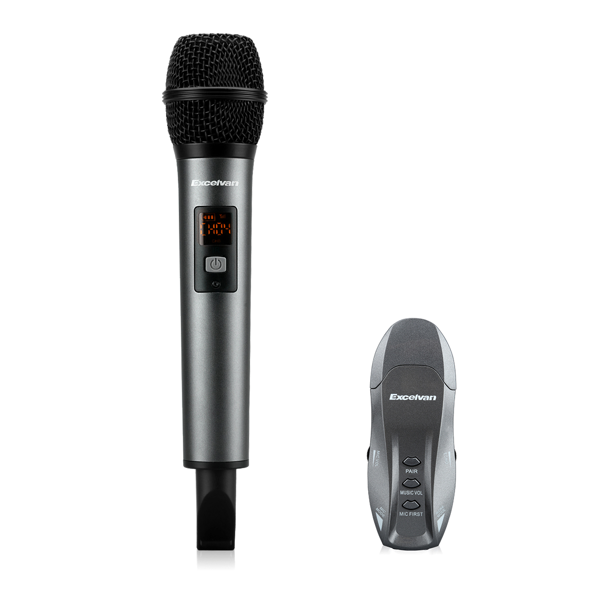 Excelvan K18V Wireless Bluetooth Microphone Wireless With Receptor Support APP For Home Entertainment Conference