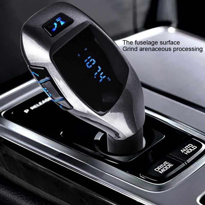 Fm Transmitter Mp3 Player Usb Handsfree Wireless Bluetooth Mobil Kit Radio Adaptor FM Modulator Musik Audio untuk Smartphone VS G7