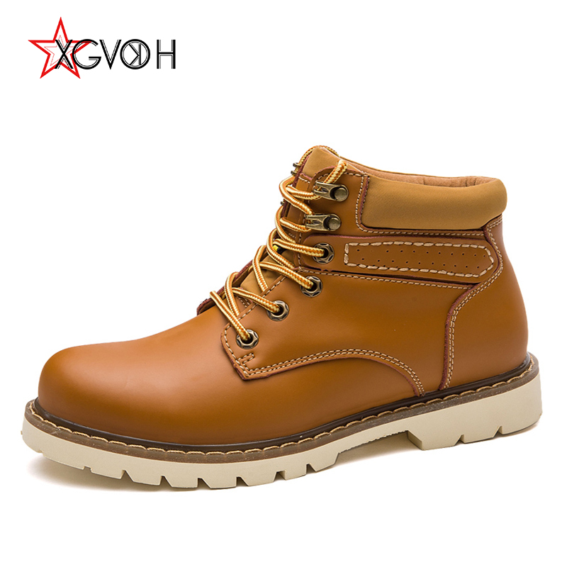 Men Boots Genuine Leather Autumn Winter Ankle Boots Fashion Footwear Lace Up Shoes Men Outdoor Casual High Top Zapatos De Hombre молочный коктейль агуша я сам малина 2 5% с 12 мес 200 мл