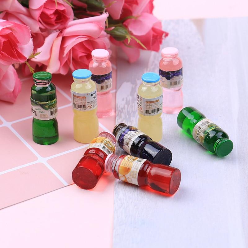 4Pcs 1:12 Dollhouse mini pink drinks bottle for doll house decoration