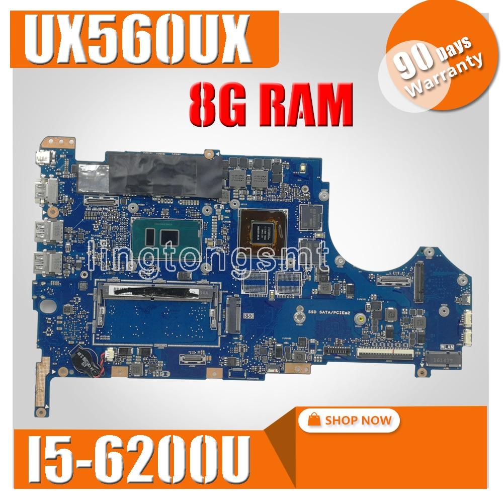 UX560UX mainboard For ASUS UX560 UX560U UX560UQK UX560UQ UX560UX laptop motherboard Tested Ok I5-6200CPU 8G RAM GTX950M/2GBUX560UX mainboard For ASUS UX560 UX560U UX560UQK UX560UQ UX560UX laptop motherboard Tested Ok I5-6200CPU 8G RAM GTX950M/2GB