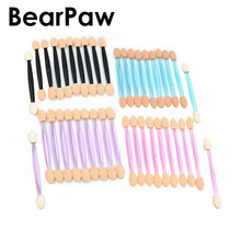 BearPaw Disposable Eye Shadow Lip Eyebrow Eyeliner Applicator Sponge Brushes Cosmetic Tool Double-side Eyeshadow Applicators