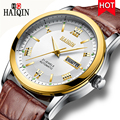 HAIQIN heren Horloges Goud Luxe Merk 2019 Nieuwe Machines/Automatische/Waterdicht/Sport/Horloge Mannen Lederen militaire Klok