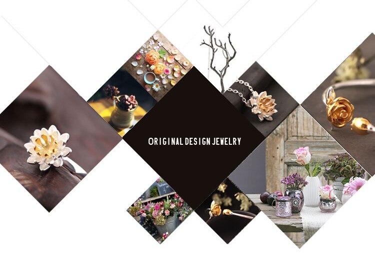 AKOLION Silver Cherry Blossoms Bracelets Charm Flower Bracelets 925 Sterling Jewelry For Girl Women 2