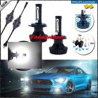 Fanless H4 HB2 9003 80W 6500K White Super Bright LED S6 Car Headlight Lamp Bulbs Hi
