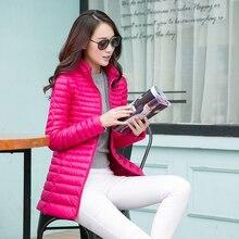 Large Size 2017 Snow Winter Jacket Women Fashion Women's 90 % White Duck Down Jackets Ultra Light Zipper Coats Slim Outwear