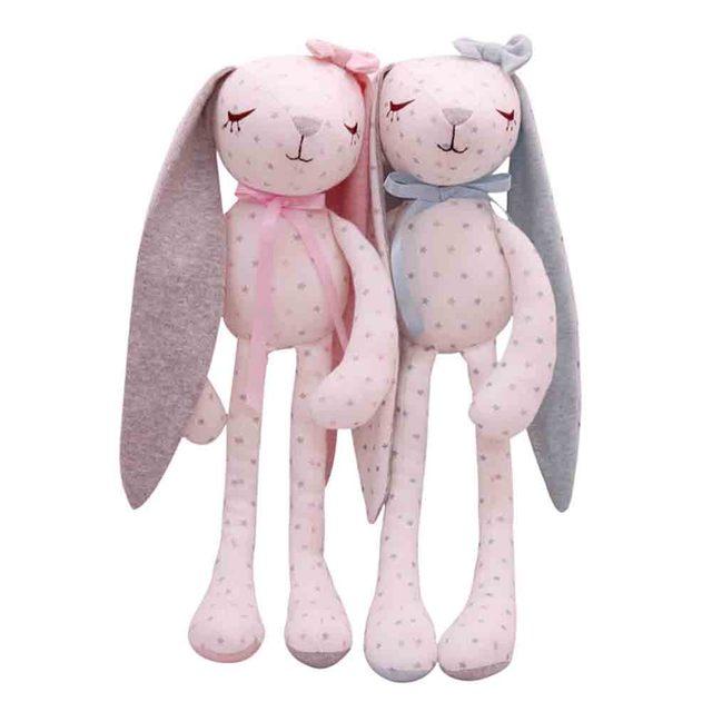 13123bd4dba SHILOH Baby Infant Sleeping Hug Doll Stuffed Bunny Dolls Plush Rabbit Toys  Pure Cotton Long-eared Rabbit Pink   Blue