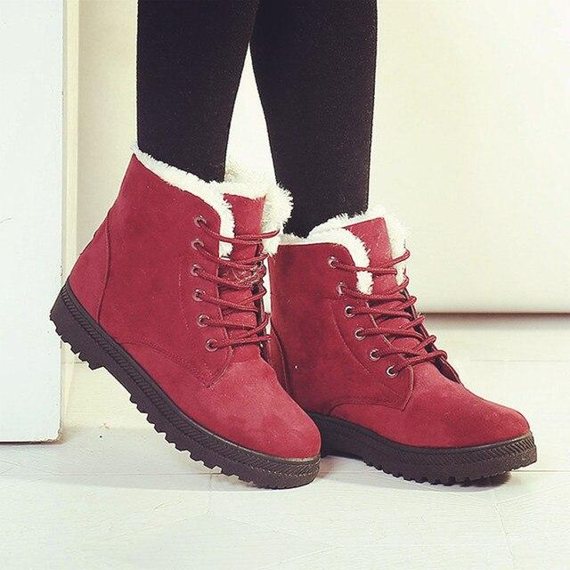 679337304 Снег сапоги зимние ботинки женская обувь плюс размер 2016 моды каблуки зимние  сапоги ботинки