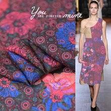 3e59d51c49 Vintage Flower Silk Double Georgette Fabric Natural Dress Material  100cm*140cm