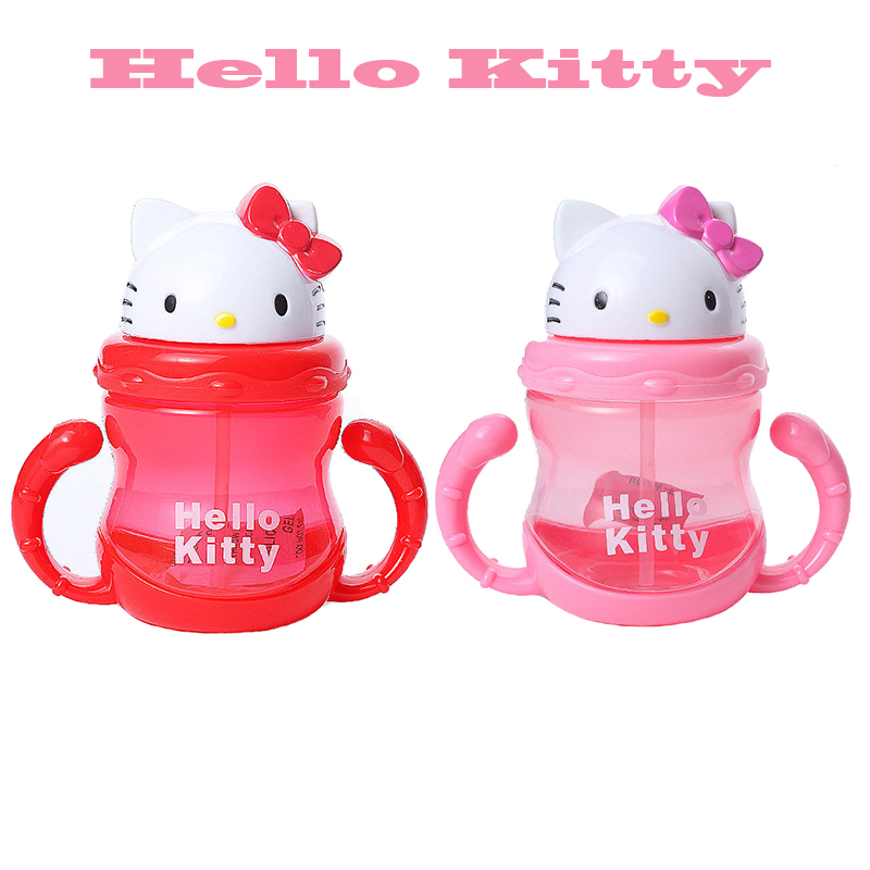 Baby bottle pp hello kitty kids straw cup with handles - Cups and kids ...