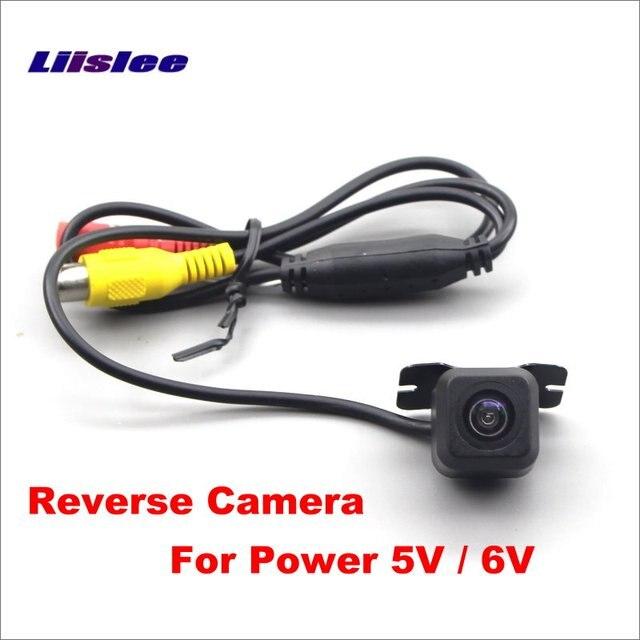 Liislee 5 V 6 V coche cámara de aparcamiento inverso/Auto HD CCD marcha atrás cámara de visión trasera (no para 12 V CC de potencia)
