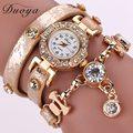 Duoya Women Watches Brand Gemstone New Luxury Bracelet Watches Dress Women Dress Fashion Long Chain Casual Wristwatch XR1068