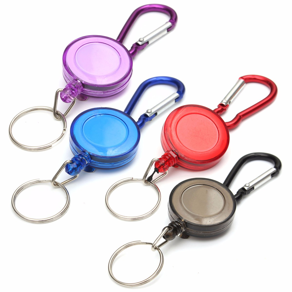 BADGE REEL RETRACTABLE RECOIL FLOWER SKI PASS ID CARD HOLDER KEY CHAIN 5 COLOURS