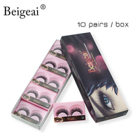 New Curling Fake Eye Lashes Beigeai Brand Makeup Natural Long Thick Eyelashes Tools Cross False Eyelashes