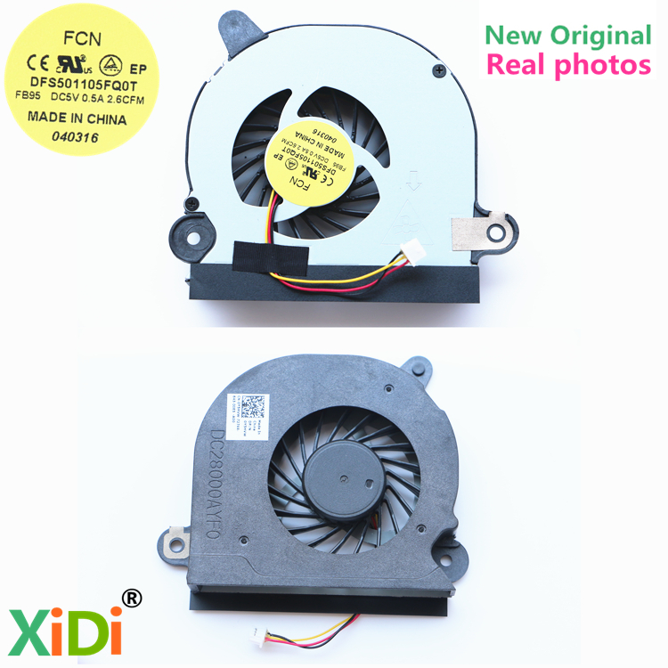 NEW Original COOLING FAN FOR DELL 15R 5520 5525 7520 VOSTRO 3560 Y5HVW CPU COOLING FAN DFS501105FQ0T FB95 CN-0Y5HVW jigu laptop battery for dell 8858x 8p3yx 911md vostro 3460 3560 latitude e6120 e6420 e6520 4400mah