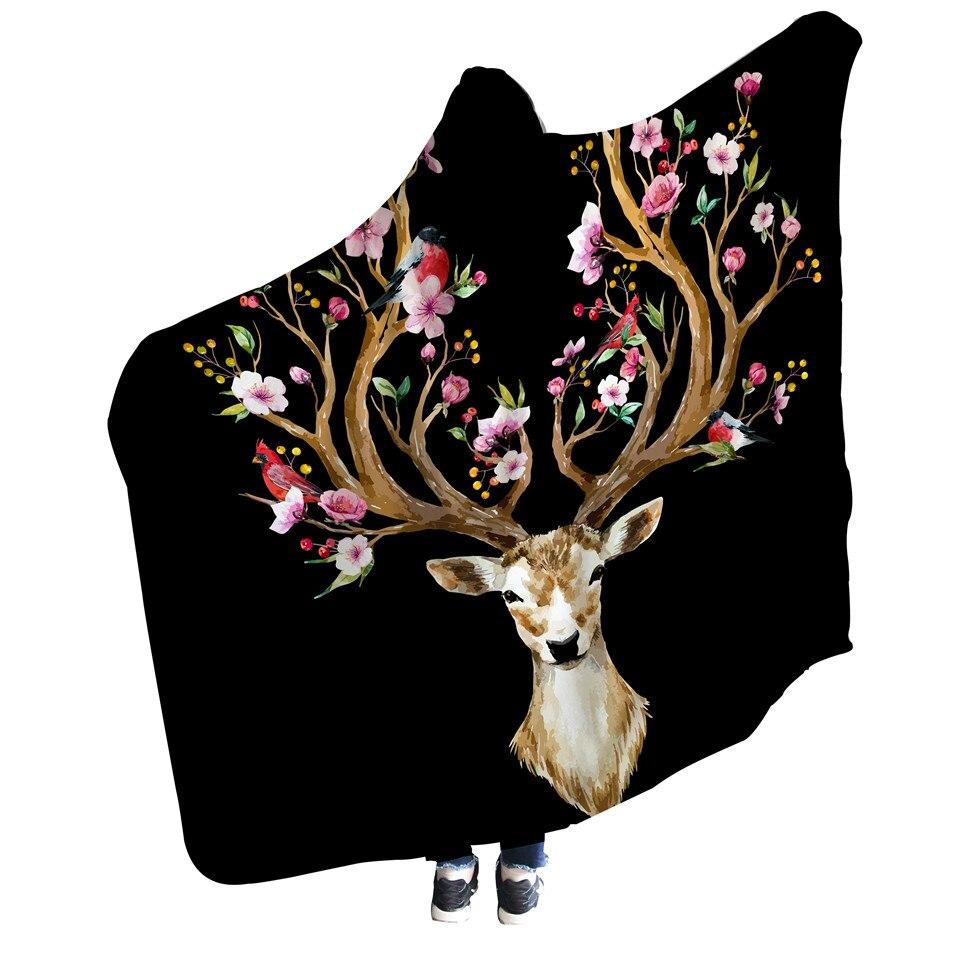鲜花鹿角-黑