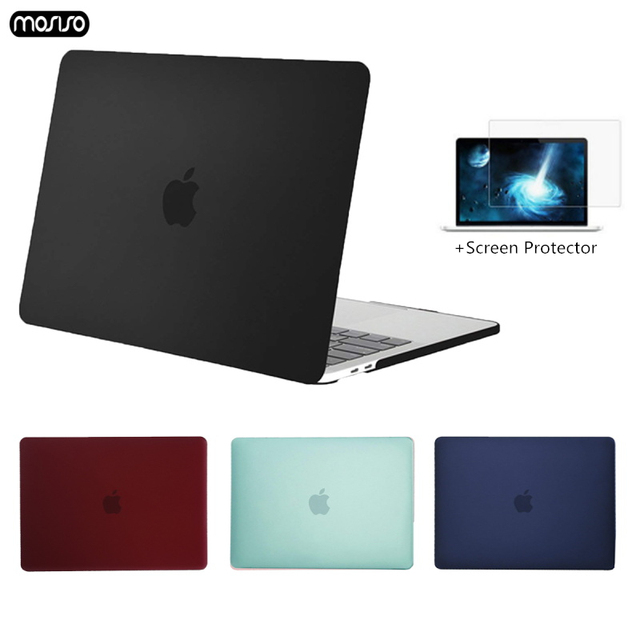 Crystal\Matte Protective Cover Case for Macbook Air Pro Retina 11 12 13 Laptop Bag for mac book 13.3 inch with Touch Bar Shell