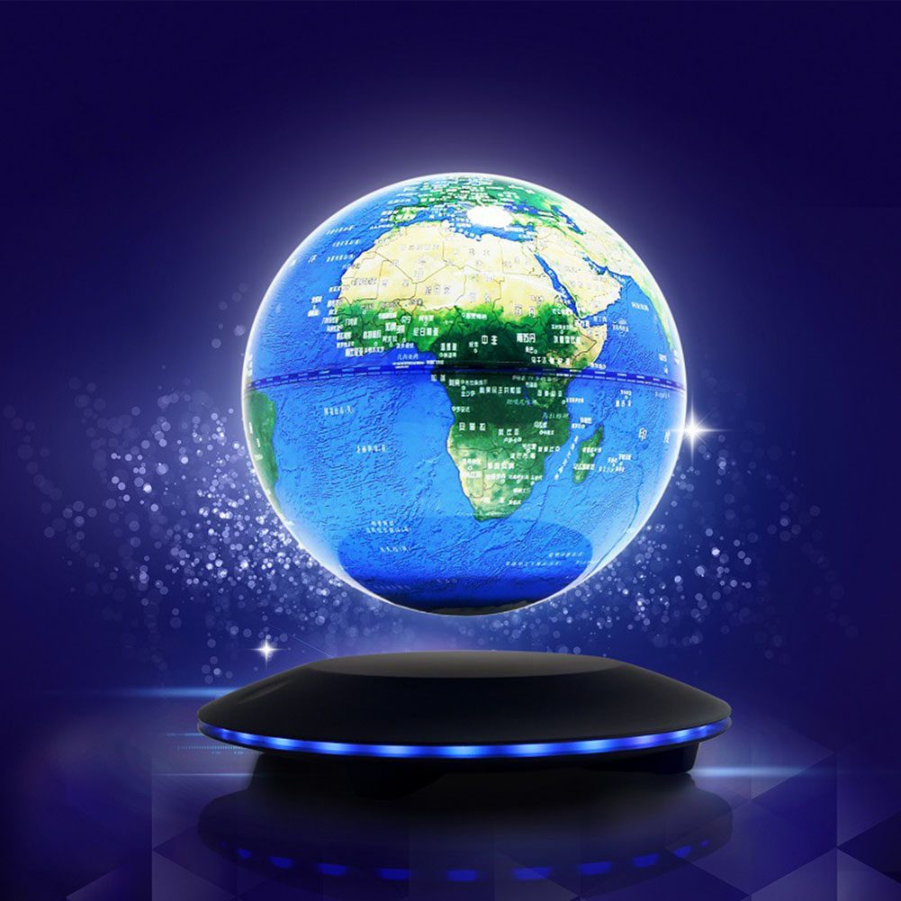 Magnetic Levitation Floating Globe Anti Gravity World Map Suspending In The Air Decoration font b Gadget