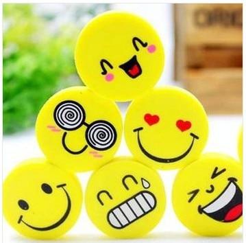 Kawaii Erasers School Supplies Office Supplies Stationery Cute Smiling Face Eraser