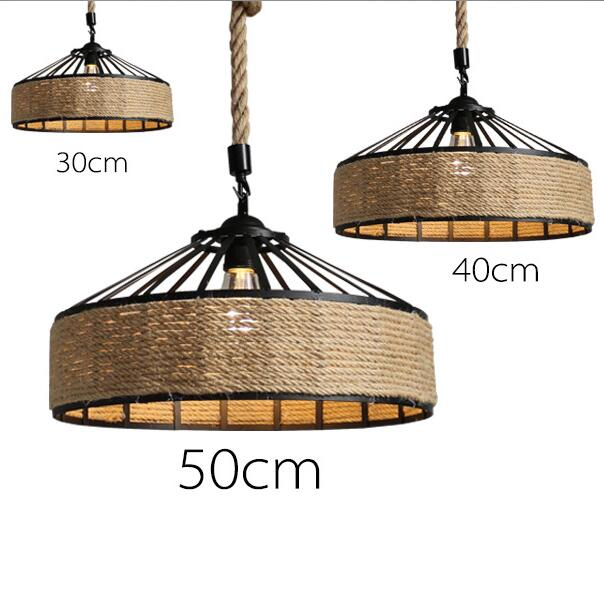 American Country Personality Creative Restaurant Cafe Bar Rope Chandelier