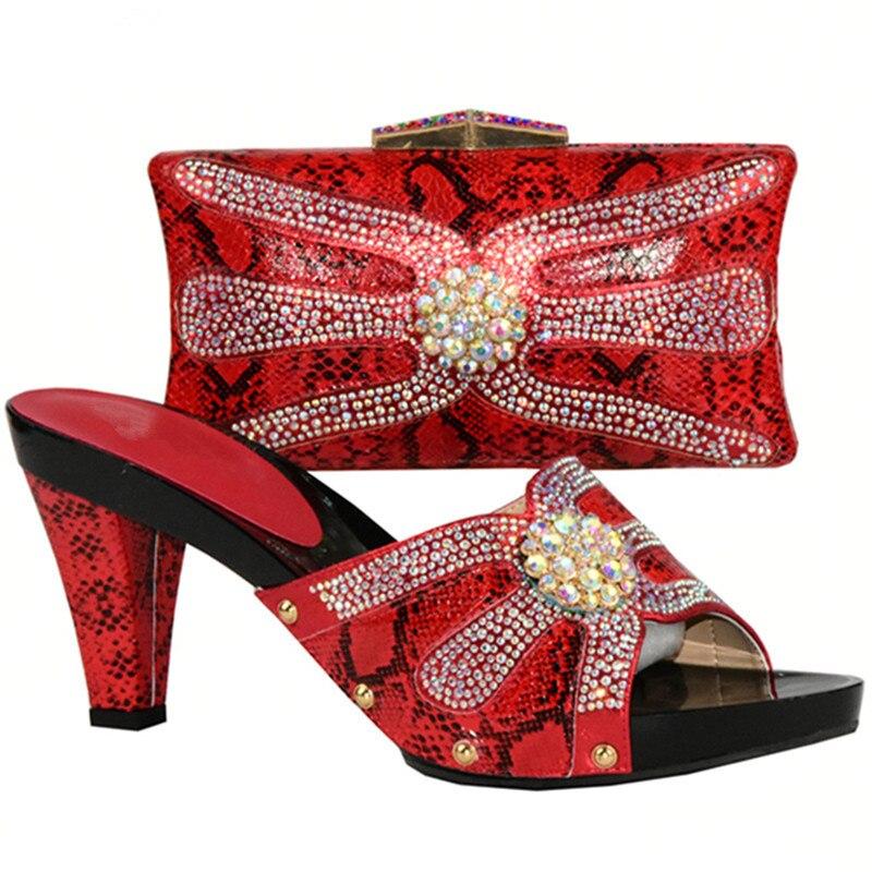 Zapato Alta Para Mujeres Negro En El Italiano rosado De Boda Y verde Bolsa rojo Partido Africano Bolso La Zapatos Último Conjuntos plata Calidad Diseño naPqH7P8X