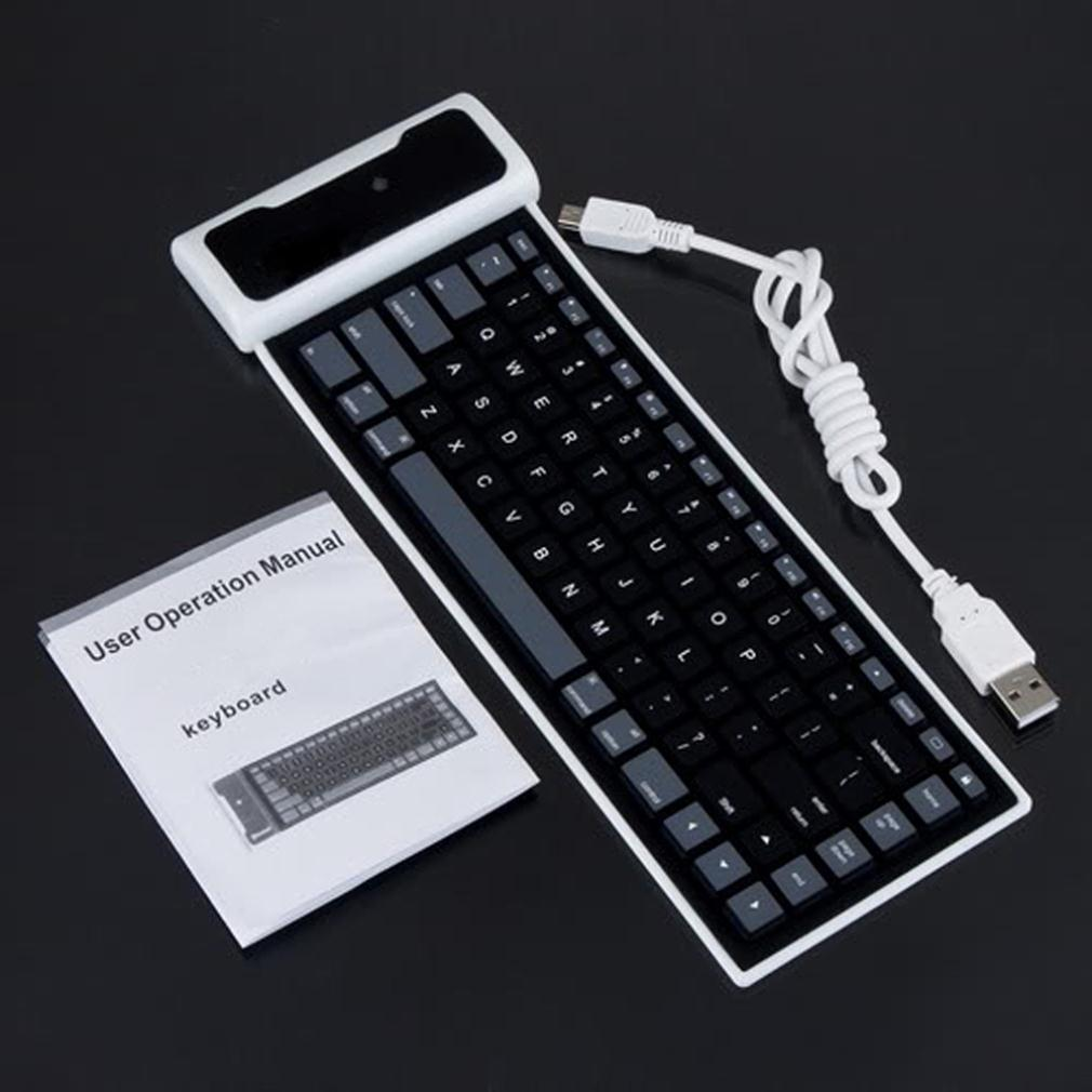 Computer Cable Rolls : New flexible silicone wireless bluetooth keyboard mini