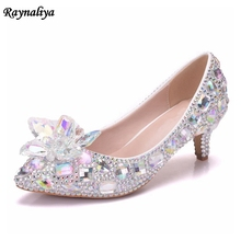 Handmade Design White Crystal White Pearl Wedding Bride Banquet Party Formal Dress Shoes Girl Birthday Party Pumps XY-A0068 цена