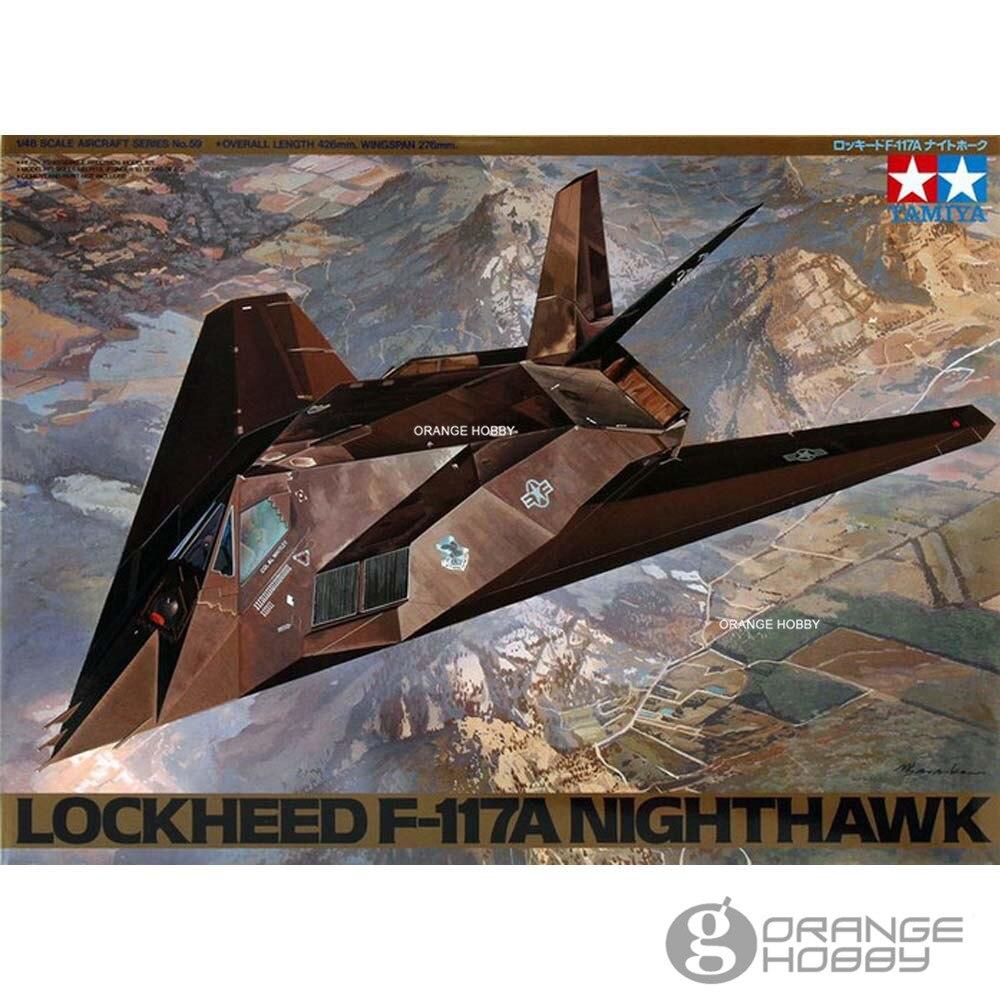 OHS Tamiya 61059 1/48 F117A NightHawk Assembly Airforce Model Building Kits G цена