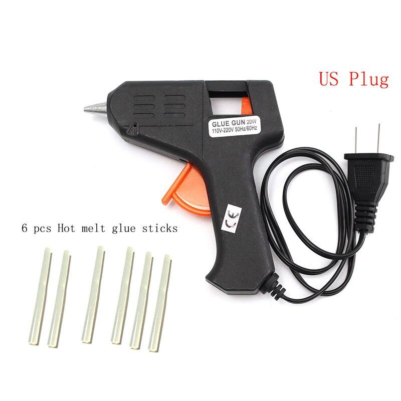 20 un 7mm X 100mm caliente derretir Mini Palos De Pegamento Adhesivo Transparente Blanco para pistola de Pegamento