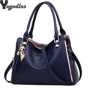 Image 1 - Женская сумка мессенджер, новинка 2020, женская сумка с верхней ручкой, простые сумки на плечо для девочек, женские сумки для леди, модные вечерние сумки