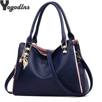 Women Messenger 2019 New Tide Female Top-handle Bag Girls Simple Shoulder Bags Women Handbags for Lady Totes Fashion Party Pack - DISCOUNT ITEM  50% OFF All Category