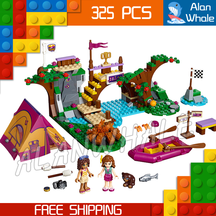 320pcs Bela 10493 Friends Series Adventure Camp Rafting Building Brick Blocks Model Olivia Andrea Toys girl Compatible With Lego