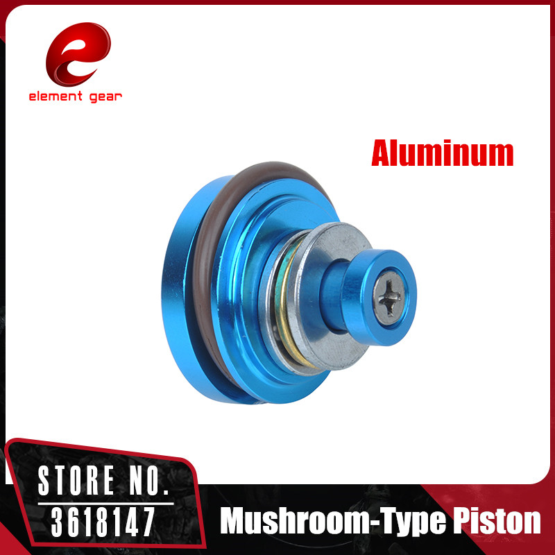 Element Aluminum Mushroom-Type Piston 6 Holes (High-End Version) for Ver.2/3 Airsoft AEG Gearbox IN0410