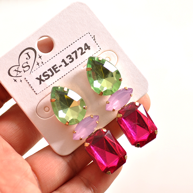 Green, pink, new fashion, gorgeous womens jewelry wholesale, girls birthday party, Christmas beautiful gift Earrings