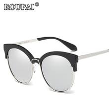ROUPAI Brand 2017 New Women's Polarized Sunglasses Women Cat Eye Vintage UV400 Sun Glasses Female Cateye Eyewear High Quality