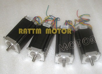 4Pcs Nema23 112mm Stepper Motor 425Oz-in 4-lead CNC 3A CNC Stepping Motor 3D Printer 23HS2430 image