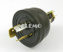 4 Pieces Non Grounding Locking Generator Male Plug AC 250V 30A
