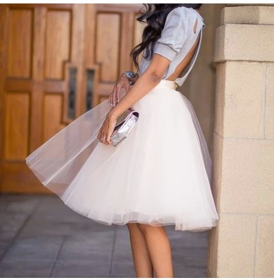 Aliexpress.com : Buy Tutu Umbrella Skirt Gauze Women Knee Length ...