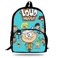 Children Backpack School Bags Cute Mochila The Loud House Printing Backpack Boys Cool Bookbag Cartoon Shoulder Bag