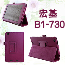ocube Luxury 2-Folder Litchi Grain PU Protective Shell Leather Cases Cover For Acer Iconia one B1-730 B1-730HD 7″Tablet