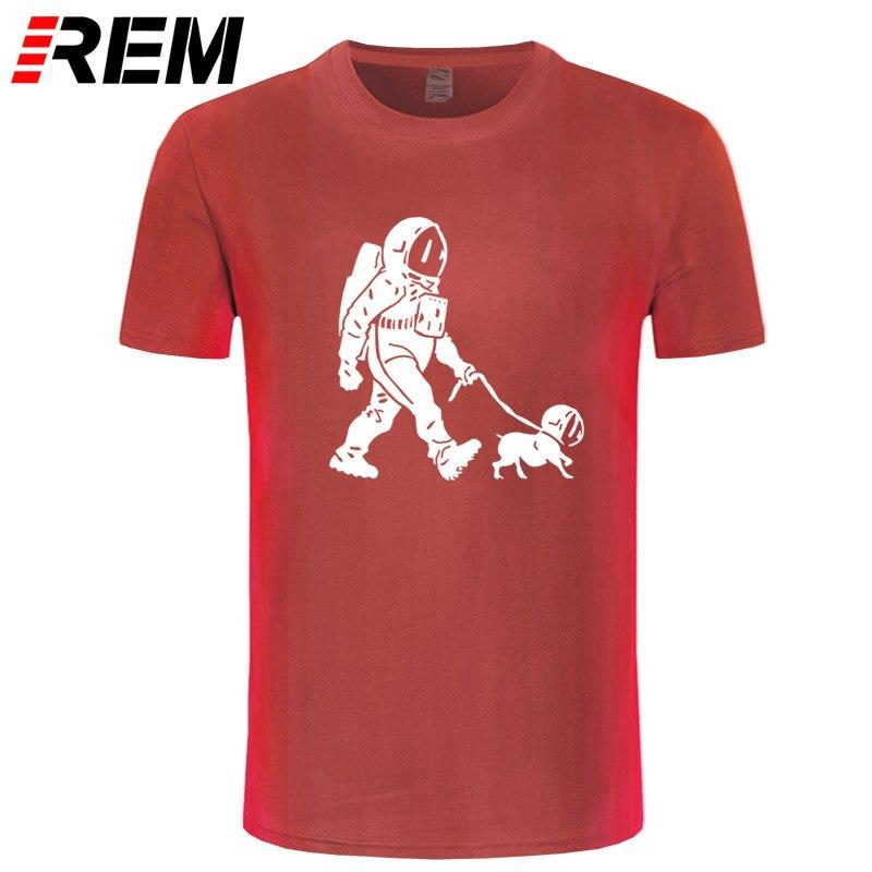 REM The Walking Dead T shirt men SpaceX Spaceship tshirt Astronaut Dog Cool T-shirt Rocket tshirt homme StarmanX Space dog Tees 3