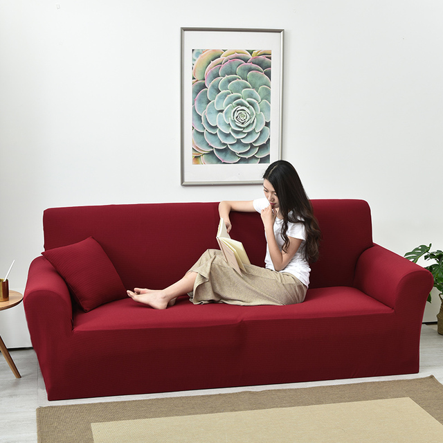 Universal Red Couch Sofa Covers For Home Waterproof